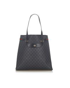 Gucci Gg Supreme Web Tote Bag Black
