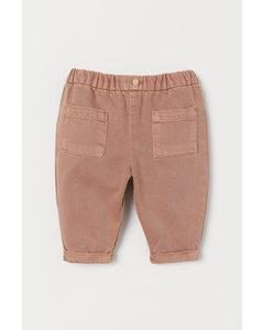 Lyocell-blend Trousers Pink Beige