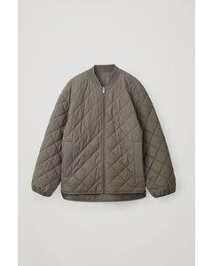 Reversible Quilted Jacket Khaki