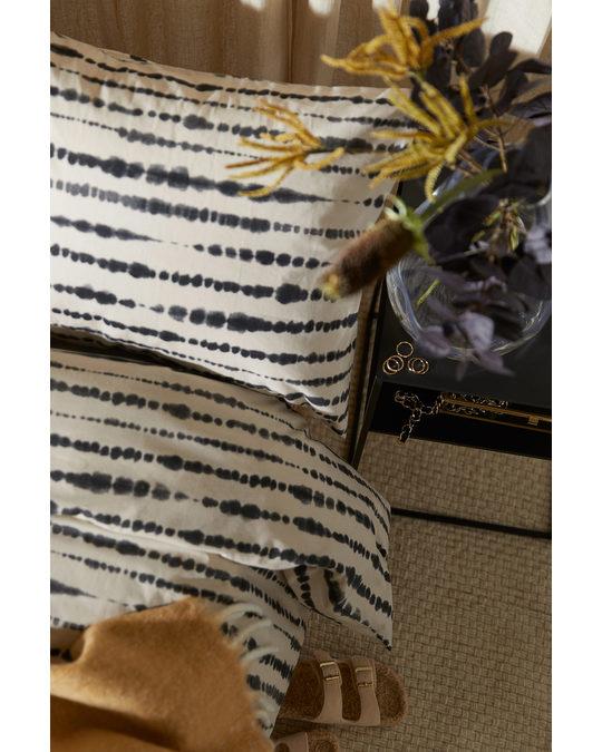 H&M HOME Batik-print Duvet Cover Set Black/batik-patterned