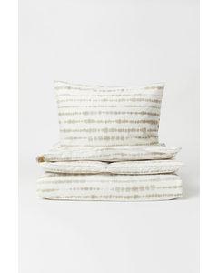 Bettwäsche mit Batikdruck Beige/Batikdruck