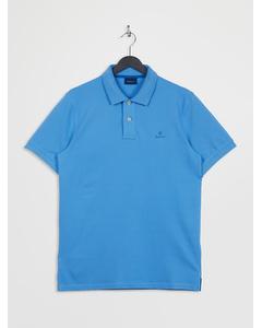 Contrast Collar Pique Ss Rugger Pacific Blue