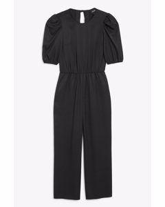 Open-back Jumpsuit Black