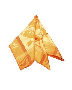 Hermes Jeux D Ombres Silk Scarf Orange