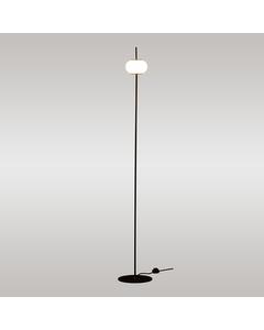 Stehleuchte 170 cm matt schwarz lacqueting Glasschirm Diffusor