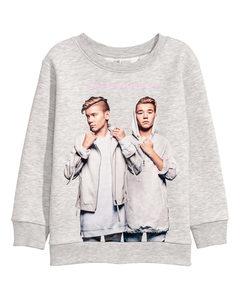 Sweatshirt Med Tryck Ljusgrå/marcus & Martinus