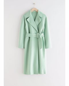 Relaxed Belted Coat Mint
