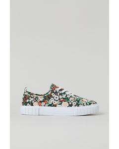 Sneaker Schwarz/Geblümt