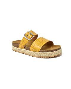 Estella Bio Sandal In Yellow Leather