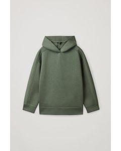 Oversized Scuba Hoodie Khaki Green