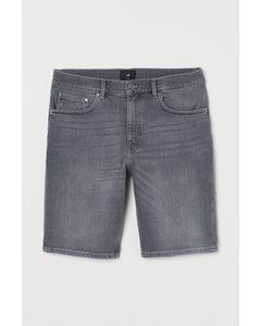 Jeansshorts Slim Fit Grau