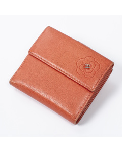 Camellia Embossed Small Compact Flap