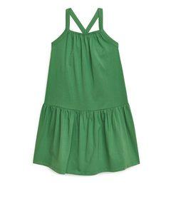 Jersey Strap Dress Green