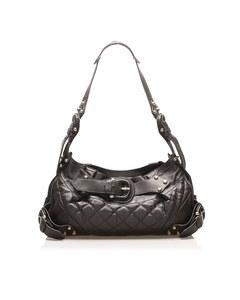 Burberry Quilted Leather Shoulder Bag Black