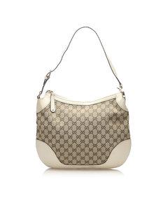 Gucci Gg Canvas Charlotte Shoulder Bag Brown