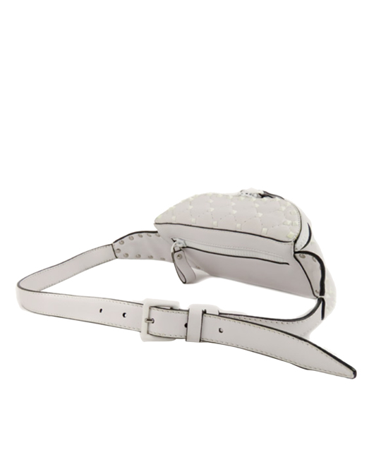 Valentino Valentino Rockstud Leather Belt Bag White