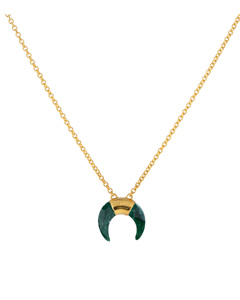 Beaches Moon Necklace Gold