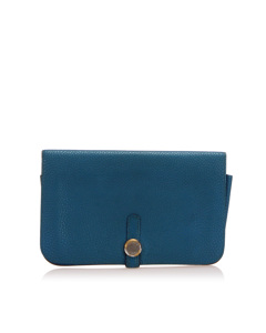 Hermes Dogon Wallet Blue