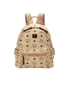 Mcm Visetos Leather Backpack Brown