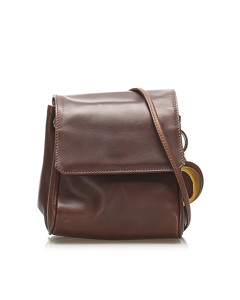 Dior Leather Crossbody Bag Brown