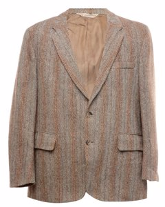 Harris Tweed Herringbone Wool Blazer