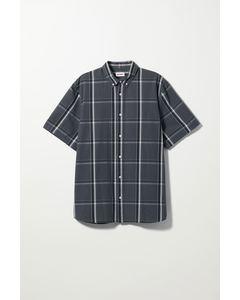 Dameer Check Short Sleeve Shirt Blue Plaid