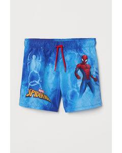 Badeshorts Blau/Spiderman