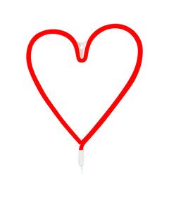 Vegas Röd Hjärta Vägglampa
