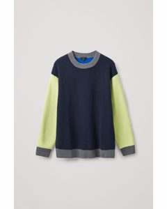 Wool Colour Block Jumper Multicoloured