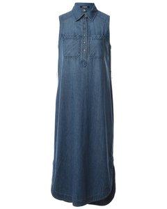 1990s Chaps Sleeveless Denim Dress