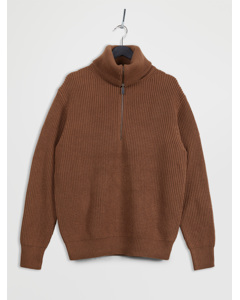 Cl Sonnani Half Zip Brown