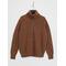 Half-Zip Cotton-Wool Jumper Light Brown