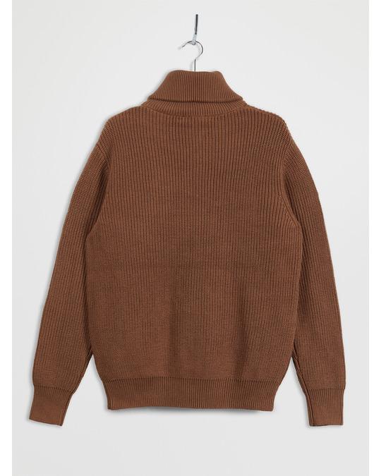 COS Half-Zip Cotton-Wool Jumper Light Brown