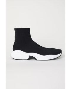Fully fashioned Sneaker Schwarz