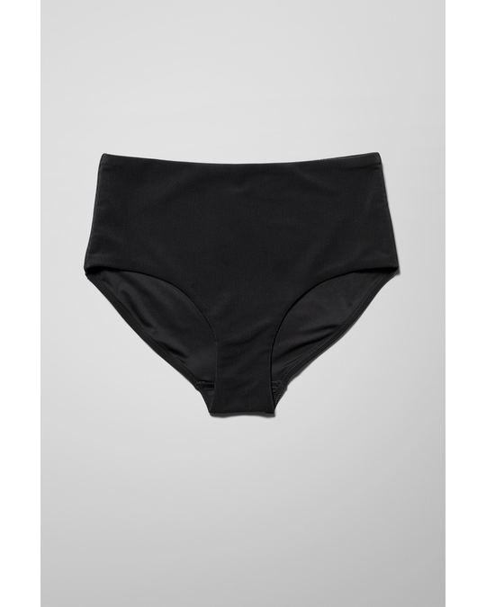 Weekday Pearl Swim Bottoms Black