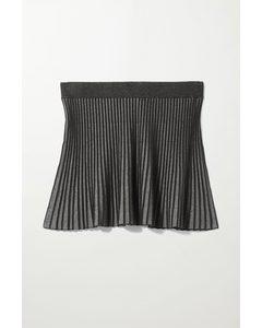 Adina Short Knit Skirt Black