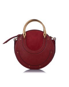 Chloe Pixie Leather Satchel Red