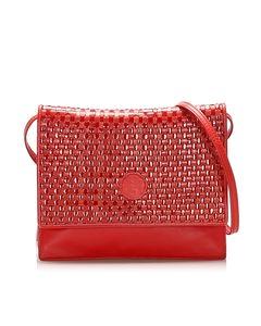 Fendi Leather Crossbody Bag Red