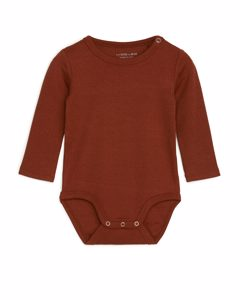 Cotton Lyocell Bodysuit Brown