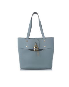 Chloe Aby Leather Bucket Bag Blue