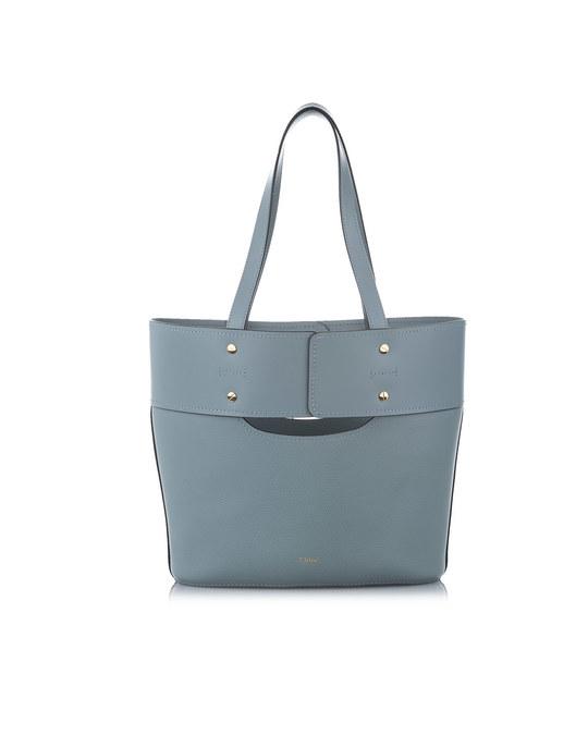 Chloé Chloe Aby Leather Bucket Bag Blue