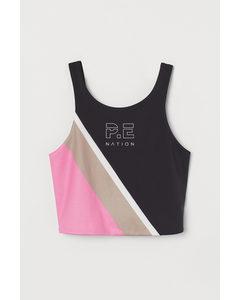 Sportbralette Zwart/roze