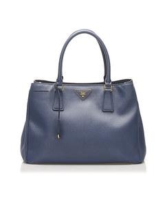 Prada Saffiano Galleria Satchel Blue