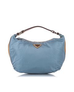 Prada Tessuto Hobo Bag Blue