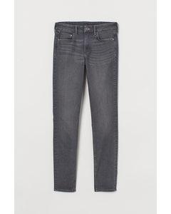 Skinny Regular Jeans Mörkgrå