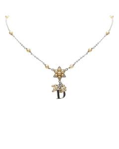 Dior Star Logo Pendant Necklace Gold