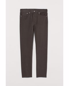 Slim Straight Jeans Dunkles Graubraun