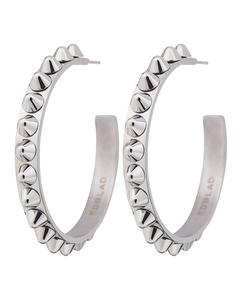 Peak Creole Earrings Large Steel