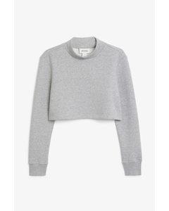 Cropped Sweatshirt Grey Melange