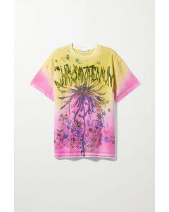 Dionaea Unisex T-shirt Pink & Yellow